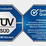 Servicequalität Siegel TÜV Süd